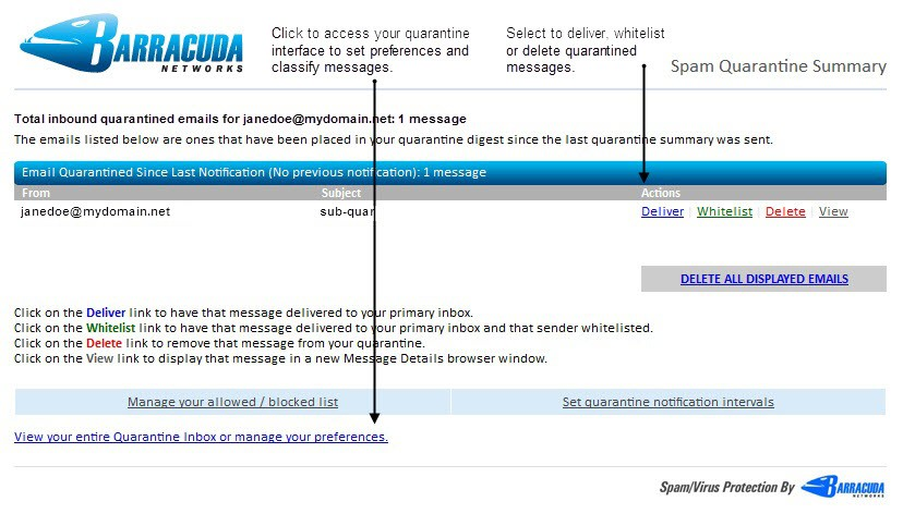 faq barracuda spam firewall user s guide 5 x faq frequently